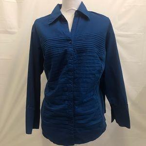 Zac & Rachel Button Front blouse blue